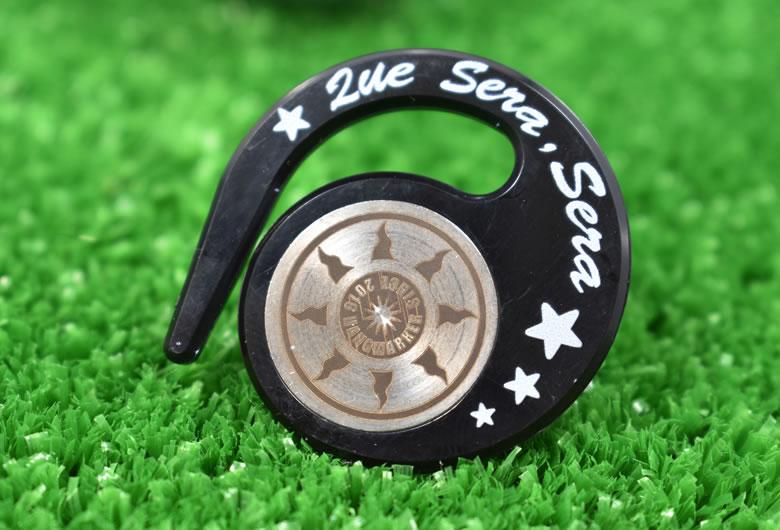 ハングマーカー(ゴルフマーカー)ケ・セラ・セラシリーズ BLACK