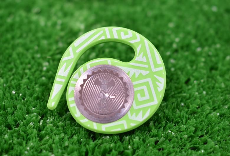 ハングマーカー(ゴルフマーカー)ニーケーシリーズ GREEN